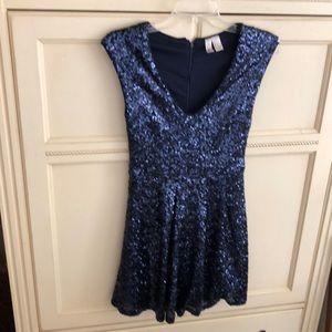 Forever 21 blue fully sequin dress